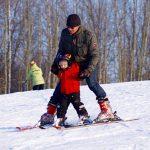 Nauka jazdy na nartach/snowboardzie dla dzieci